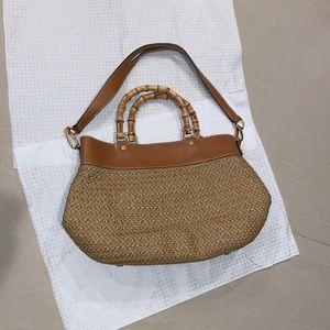 Eric Jarvis Boho bag with Bamboo handle